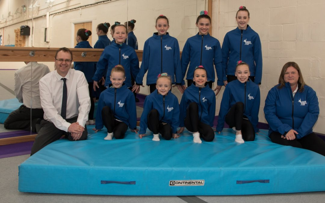 Chartered accountants help Stafford gym to buy new equipment for national gymnastics finalists