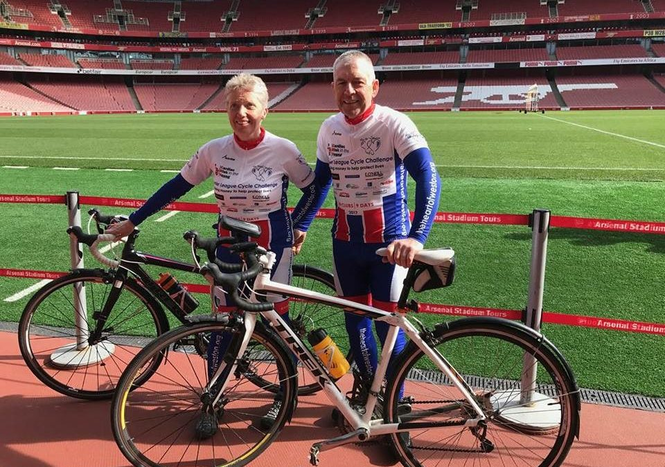 Stafford accountancy firm supports incredible Premier League cycle ride for two sudden cardiac arrest charities