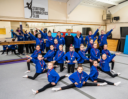 Howards supports Stafford gymnasts to achieve record representation at National Finals
