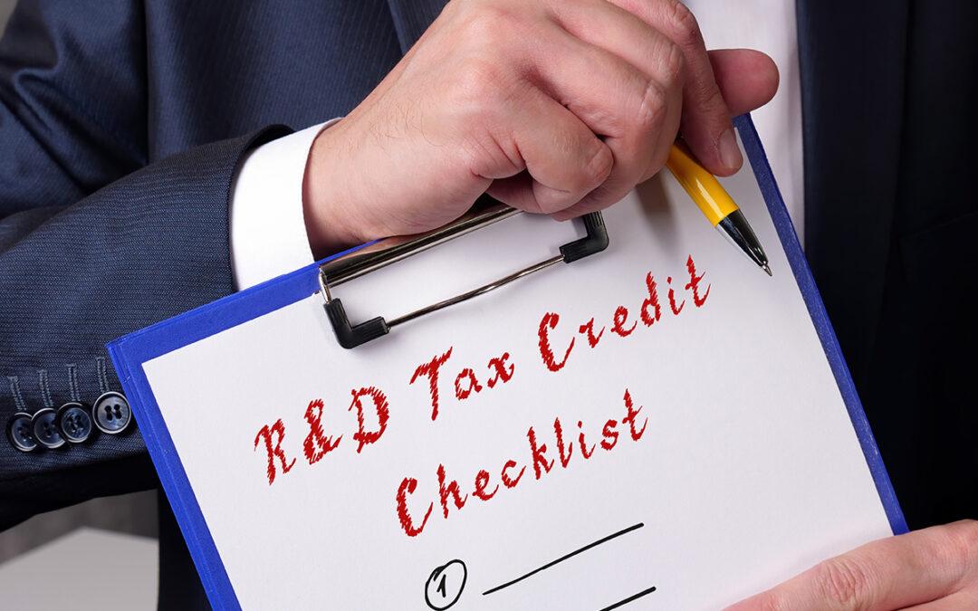 Claim R&D tax credits